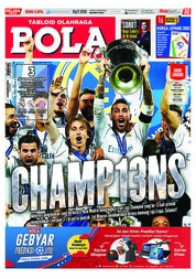 Cover Majalah Tabloid Bola ED 2874 Mei 2018