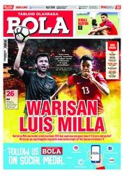 Cover Majalah Tabloid Bola ED 2893 Agustus 2018
