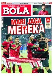 Tabloid Bola Magazine Cover ED 2895 August 2018