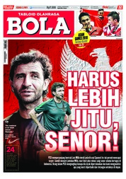 Cover Majalah Tabloid Bola ED 2901 September 2018