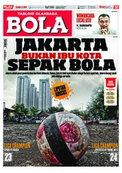 Cover Majalah Tabloid Bola ED 2909 Oktober 2018