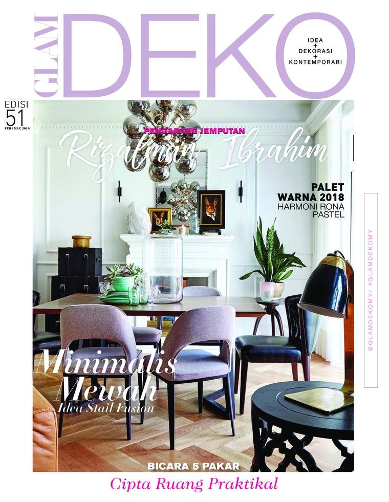 glam deko magazine february march 2018 gramedia digital On deko magazin