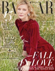 Cover Majalah Harper's BAZAAR Malaysia Oktober 2018