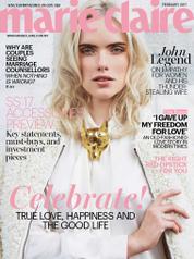 Cover Majalah marie Claire Malaysia Februari 2017
