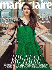 Cover Majalah marie Claire Malaysia Januari 2018