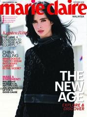 Cover Majalah marie Claire Malaysia Oktober 2018