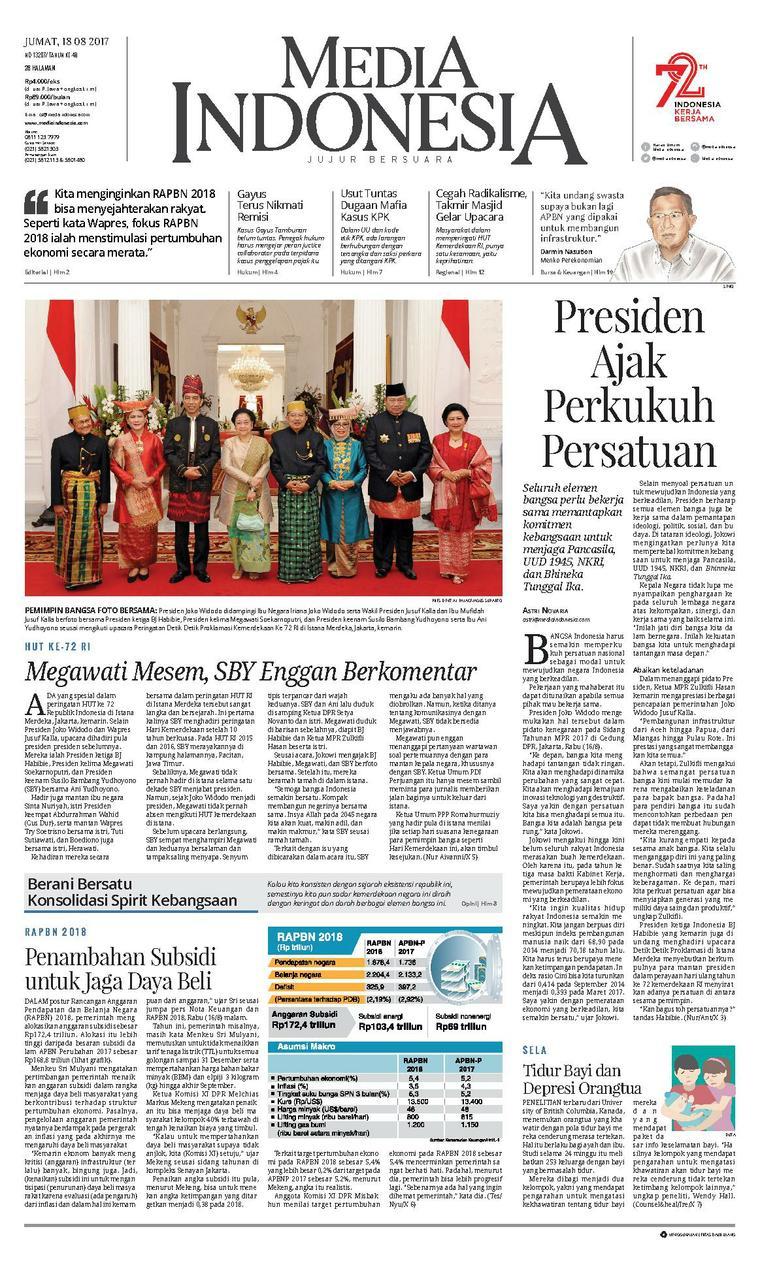 Koran Digital Media Indonesia 18 Agustus 2017