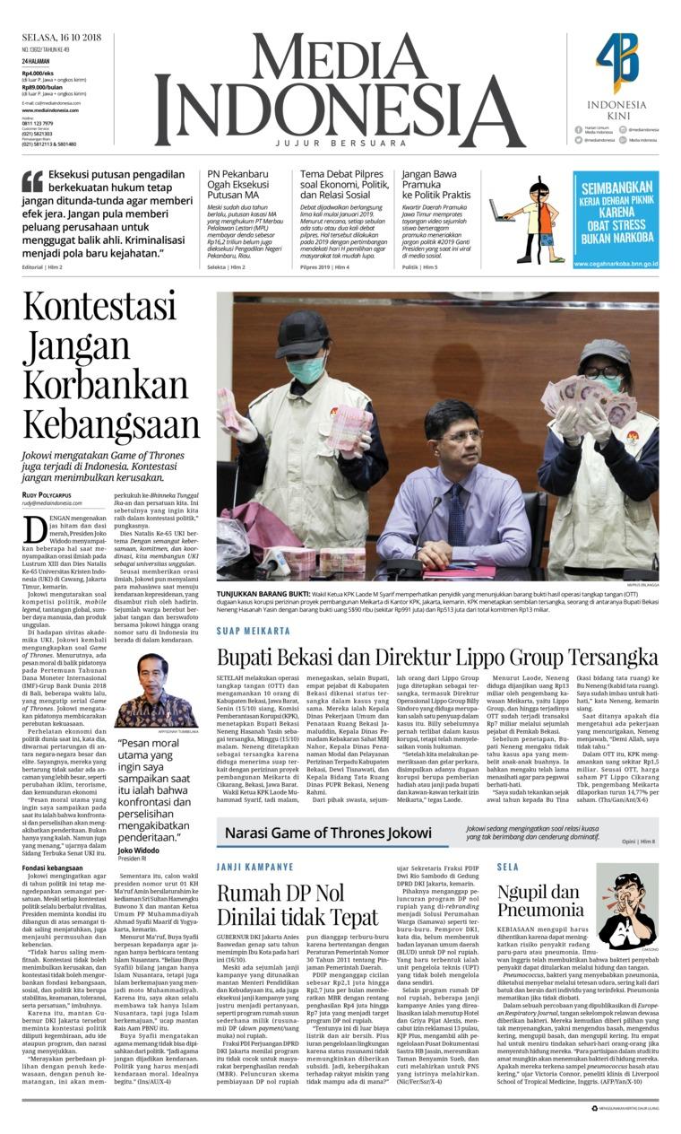 Koran Digital Media Indonesia 16 Oktober 2018
