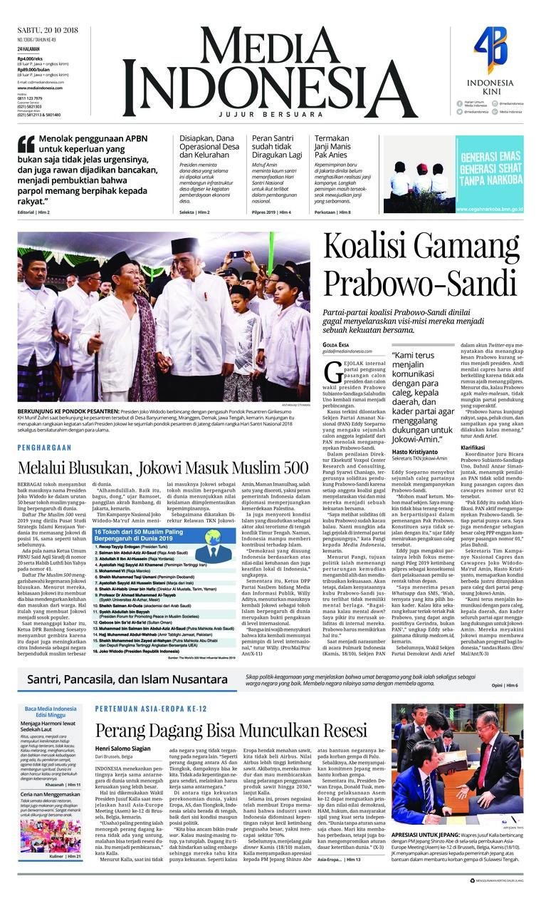 Koran Digital Media Indonesia 20 Oktober 2018