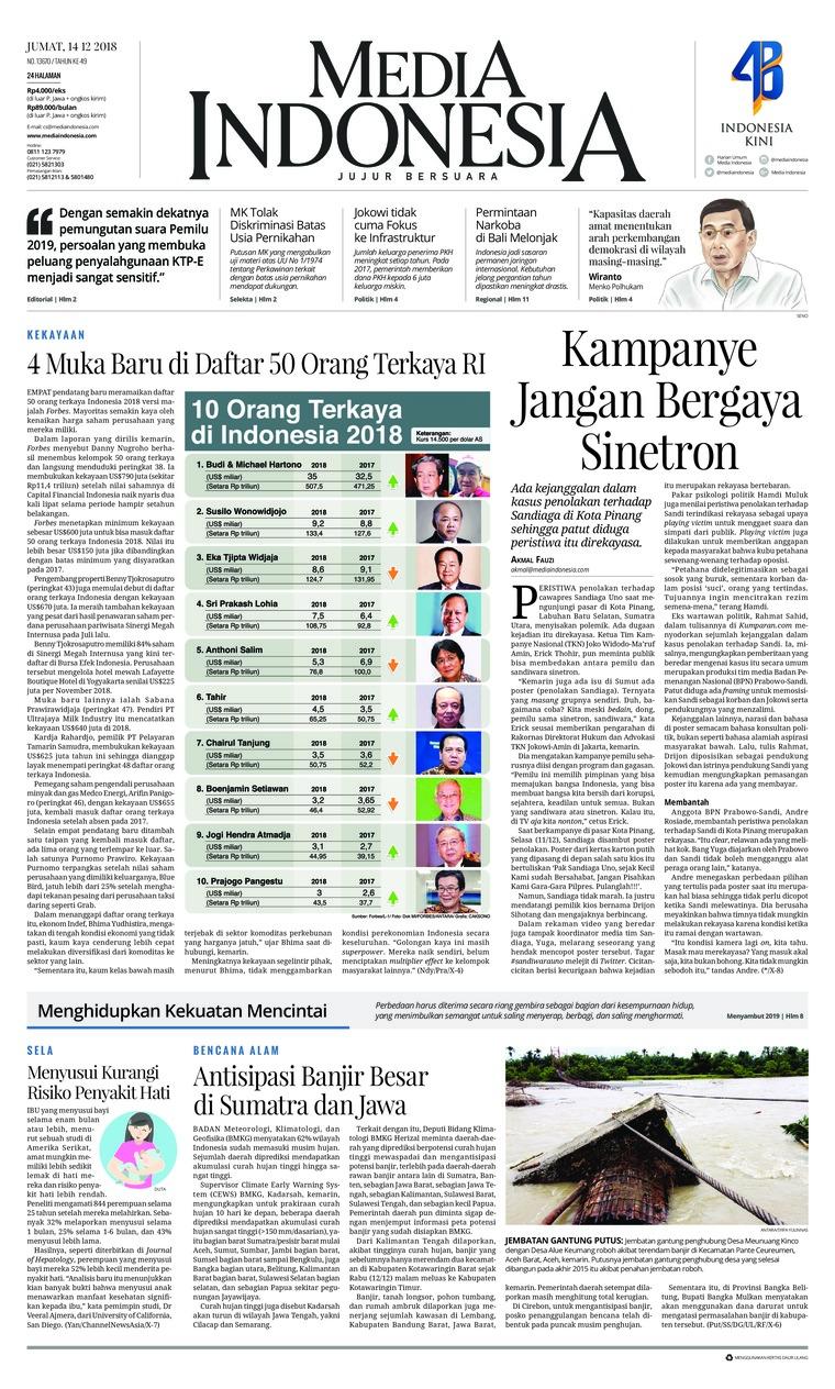 Koran Digital Media Indonesia 14 Desember 2018