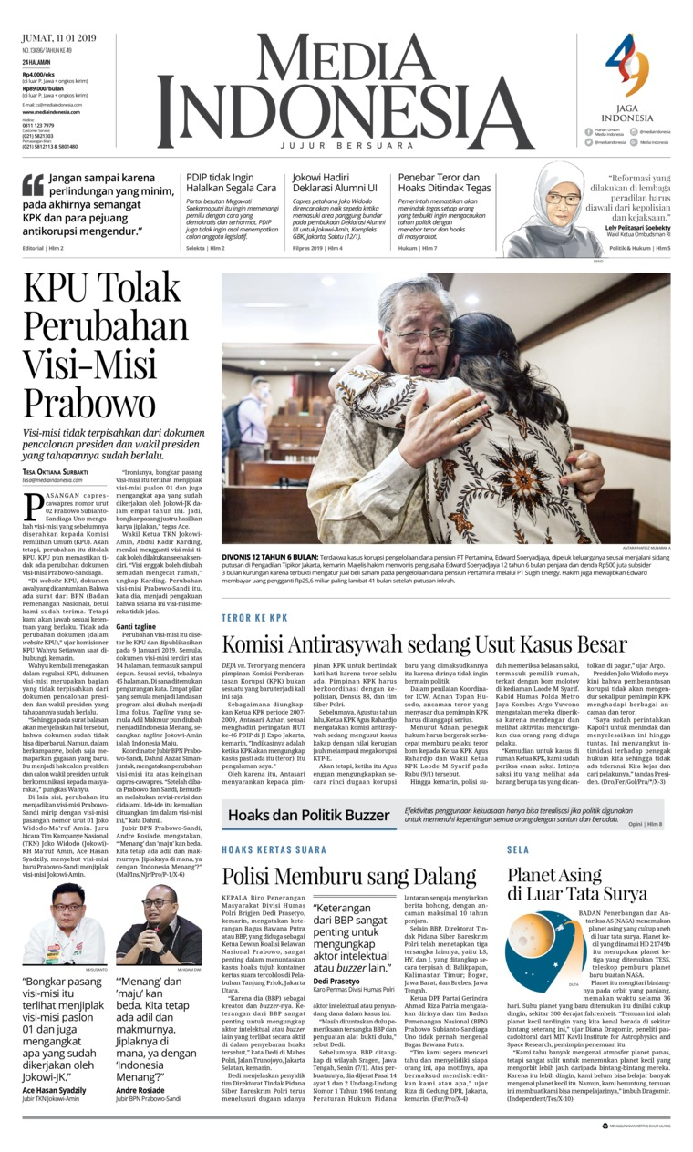 Koran Digital Media Indonesia 11 Januari 2019