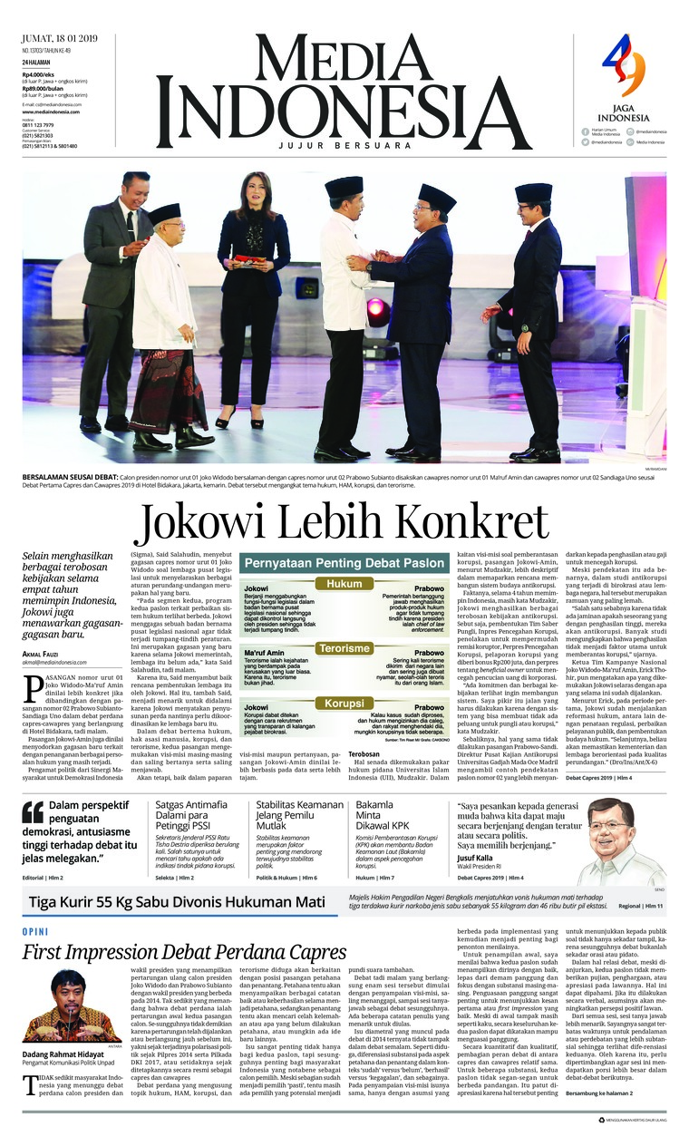 Koran Digital Media Indonesia 18 Januari 2019