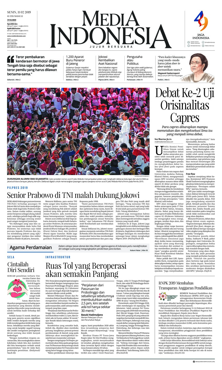 Koran Digital Media Indonesia 11 Februari 2019