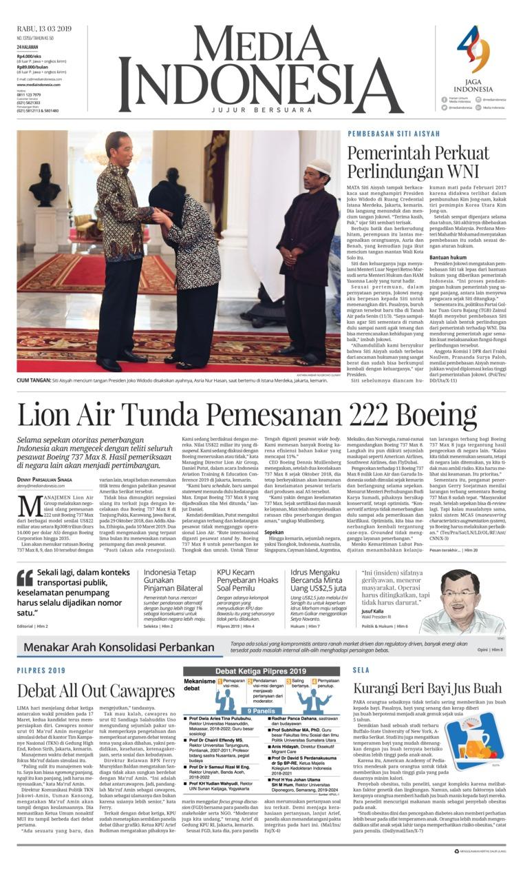 Koran Digital Media Indonesia 13 Maret 2019