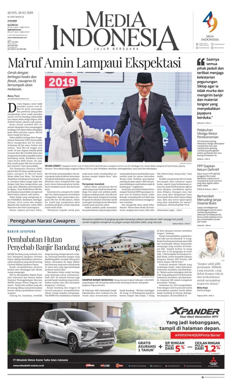 Media Indonesia Digital Newspaper 18 March 2019