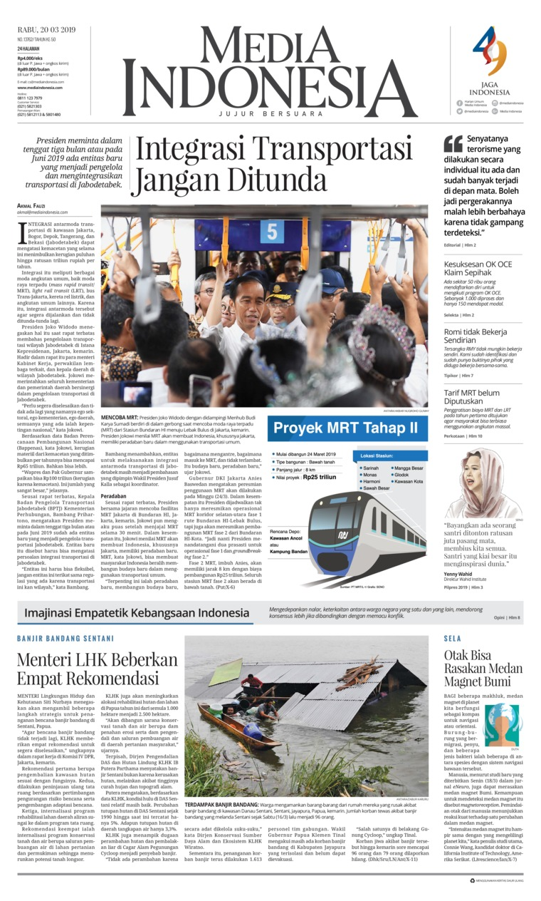 Koran Digital Media Indonesia 20 Maret 2019