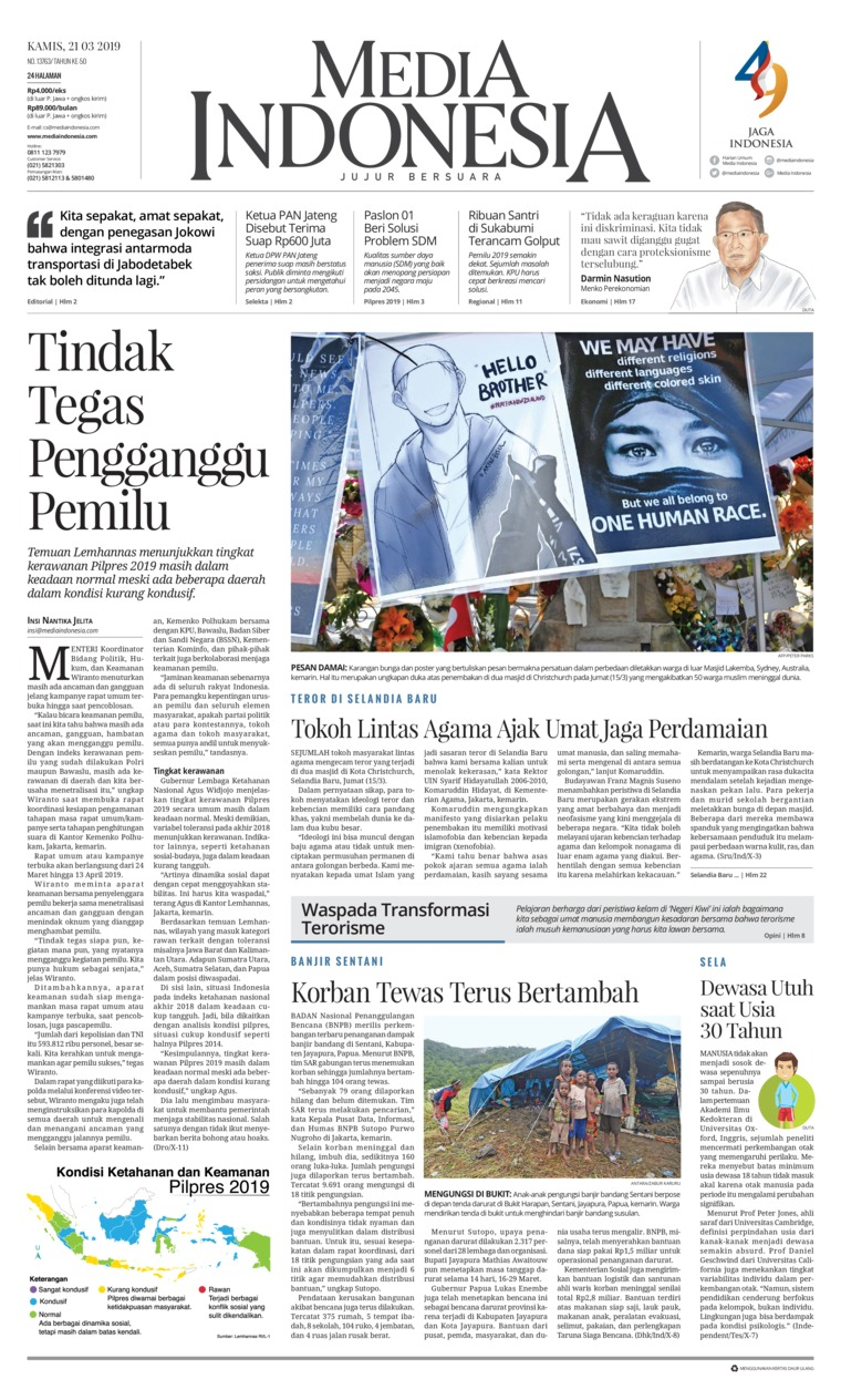 Media Indonesia Digital Newspaper 21 March 2019