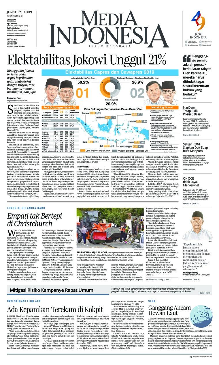 Media Indonesia Digital Newspaper 22 March 2019