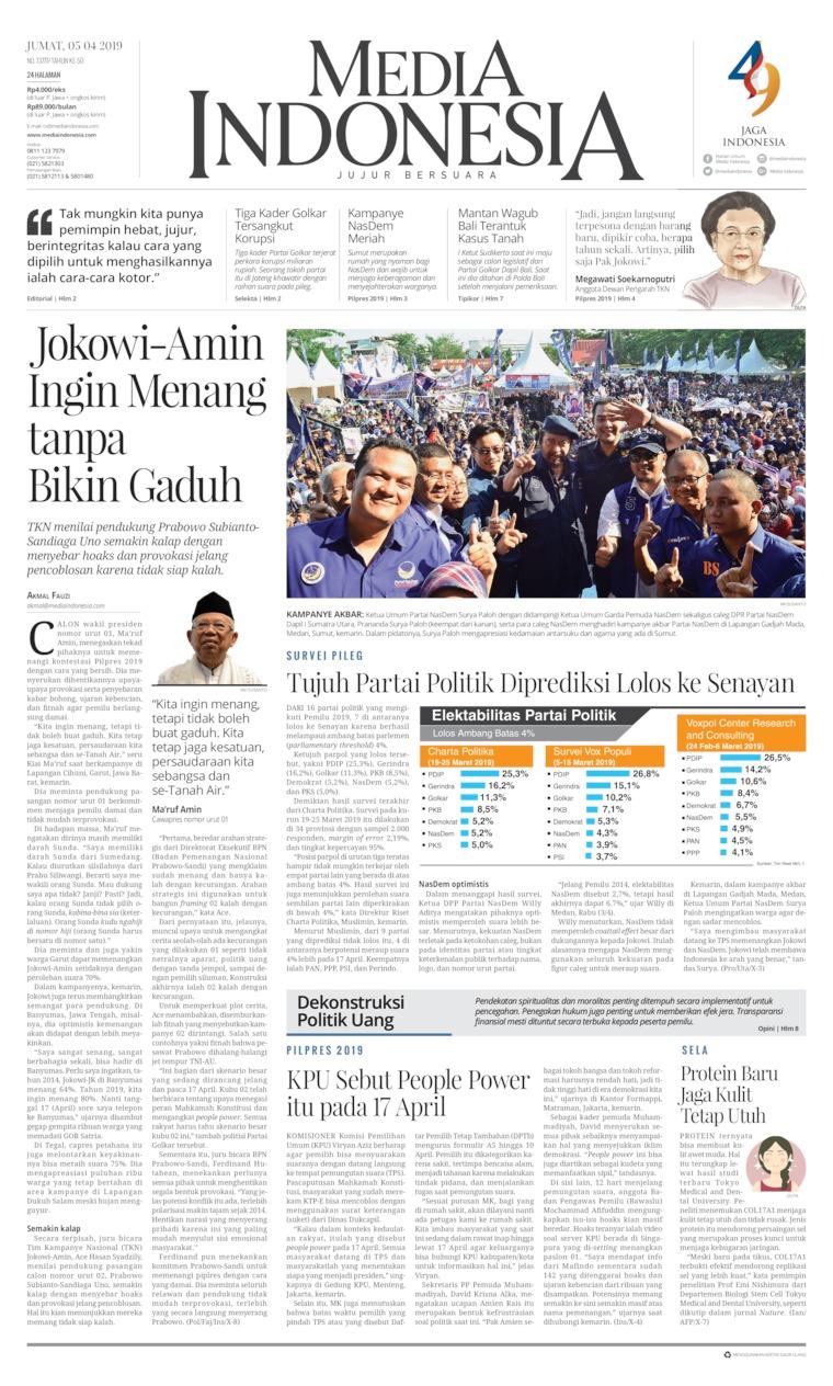 Media Indonesia Digital Newspaper 05 April 2019
