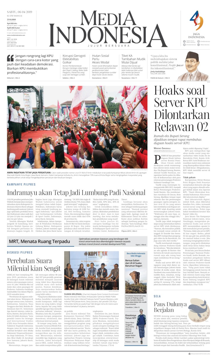 Media Indonesia Digital Newspaper 06 April 2019