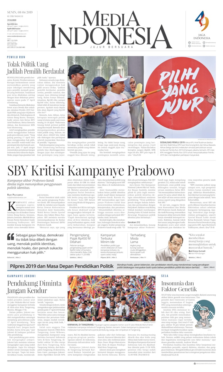 Koran Digital Media Indonesia 08 April 2019