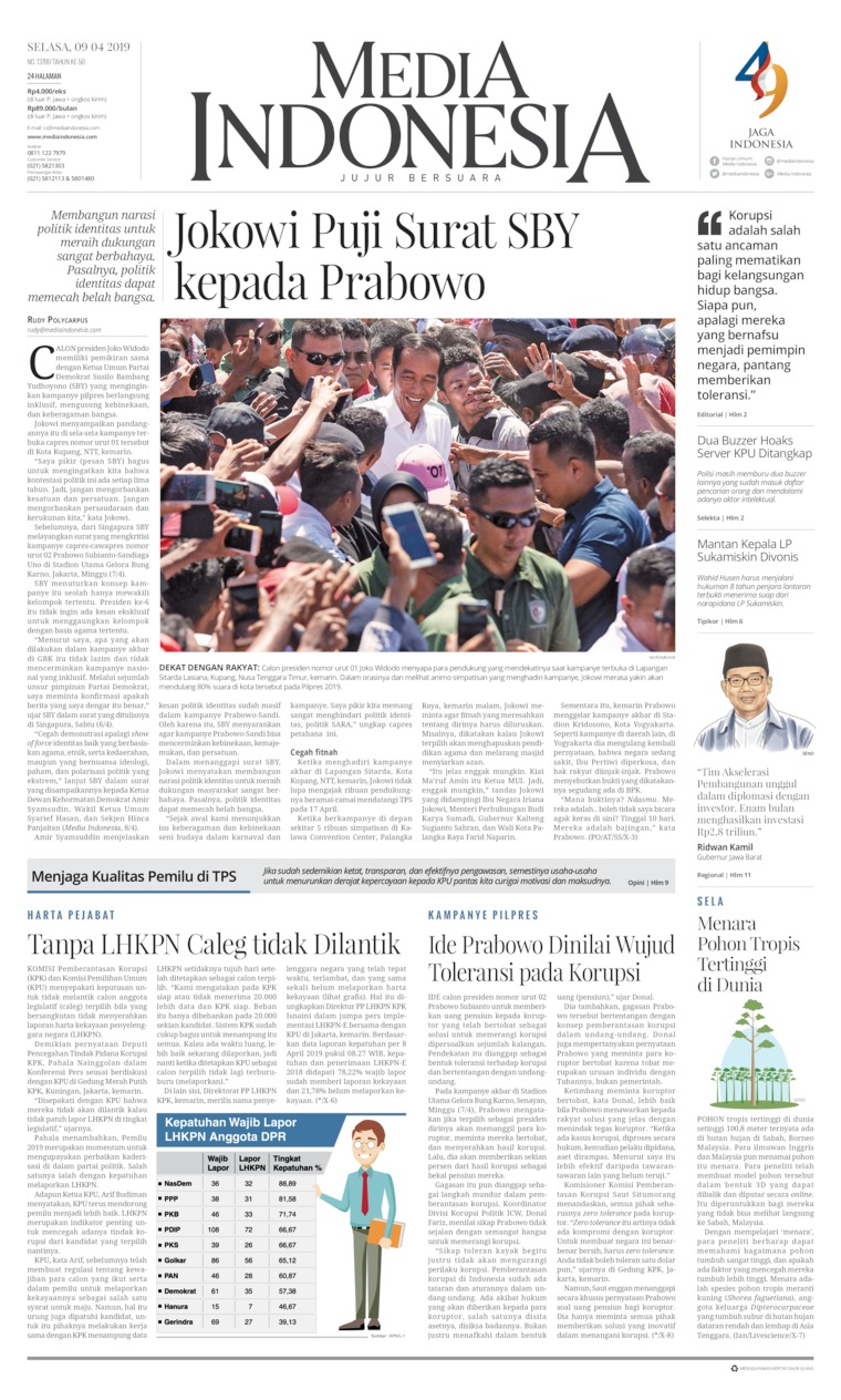 Media Indonesia Digital Newspaper 09 April 2019