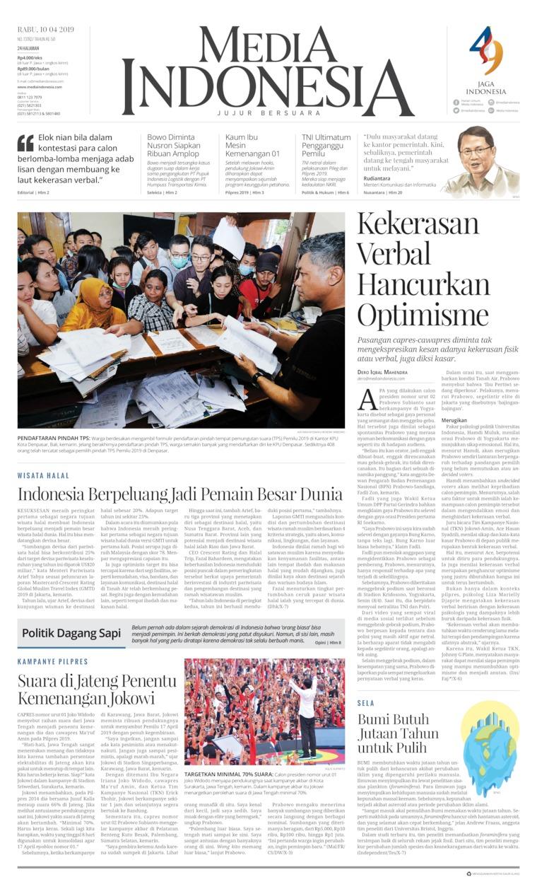 Media Indonesia Digital Newspaper 10 April 2019