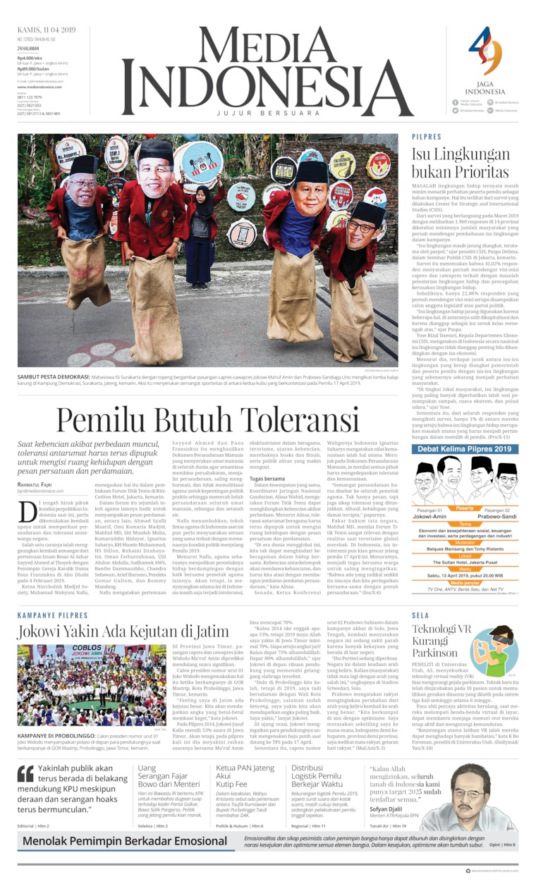 Koran Digital Media Indonesia 11 April 2019