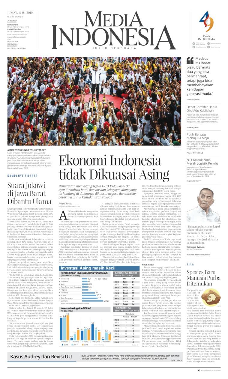 Koran Digital Media Indonesia 12 April 2019