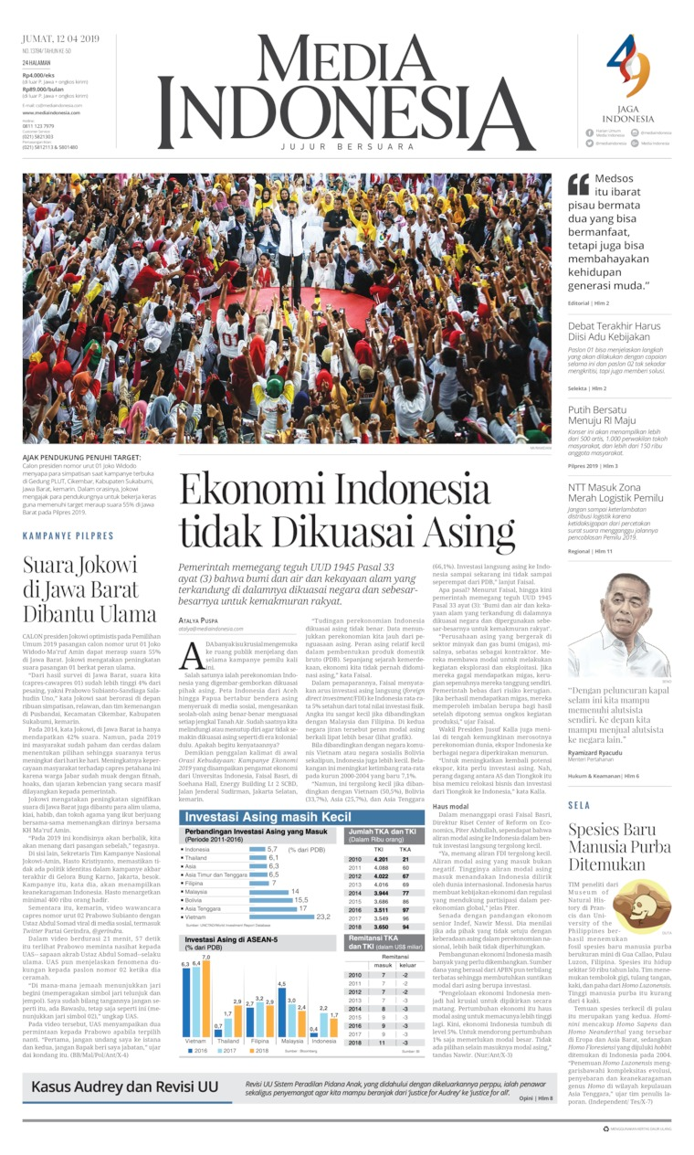 Media Indonesia Digital Newspaper 12 April 2019