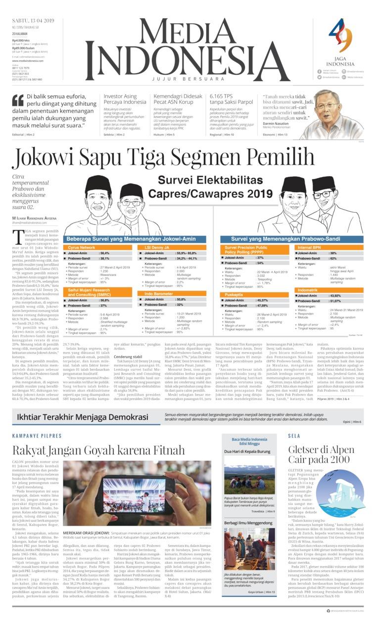 Koran Digital Media Indonesia 13 April 2019