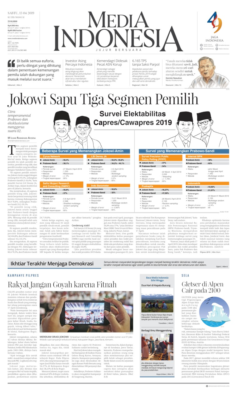 Media Indonesia Digital Newspaper 13 April 2019