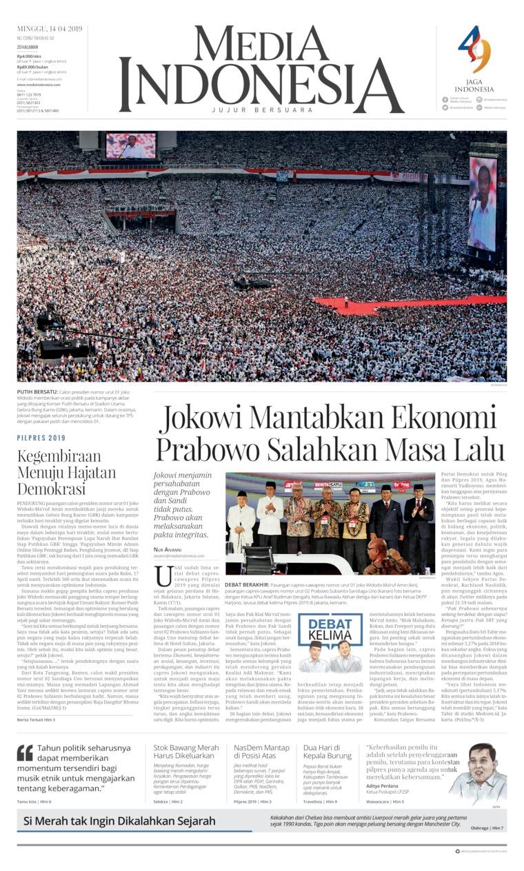 Koran Digital Media Indonesia 14 April 2019