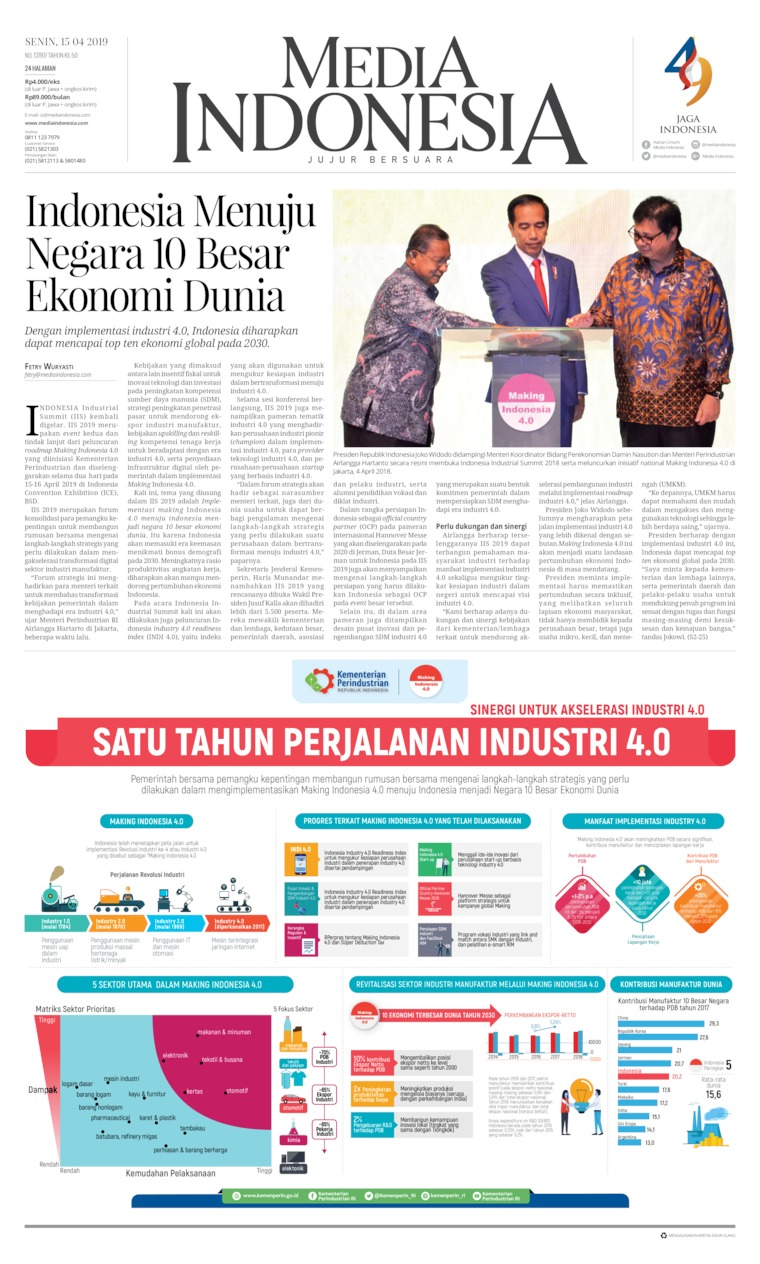 Koran Digital Media Indonesia 15 April 2019
