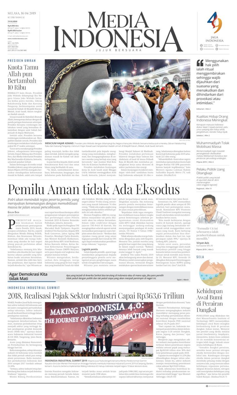 Media Indonesia Digital Newspaper 16 April 2019