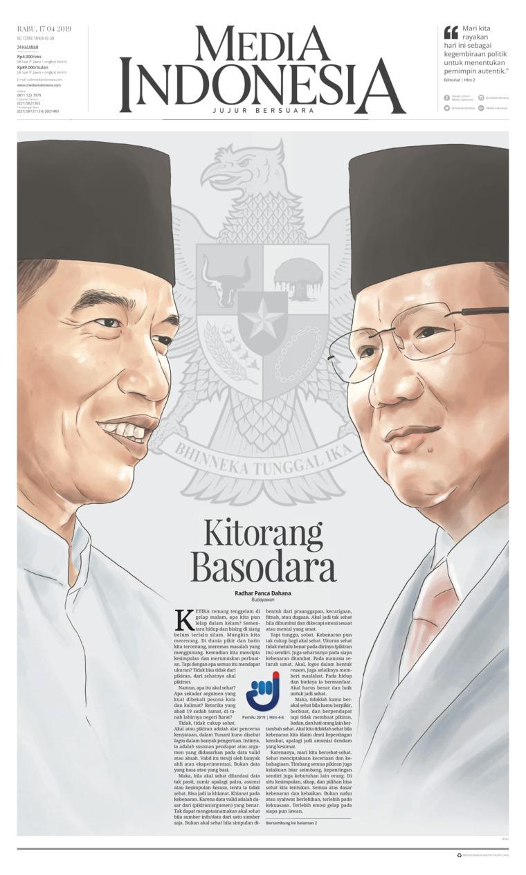 Media Indonesia Digital Newspaper 17 April 2019