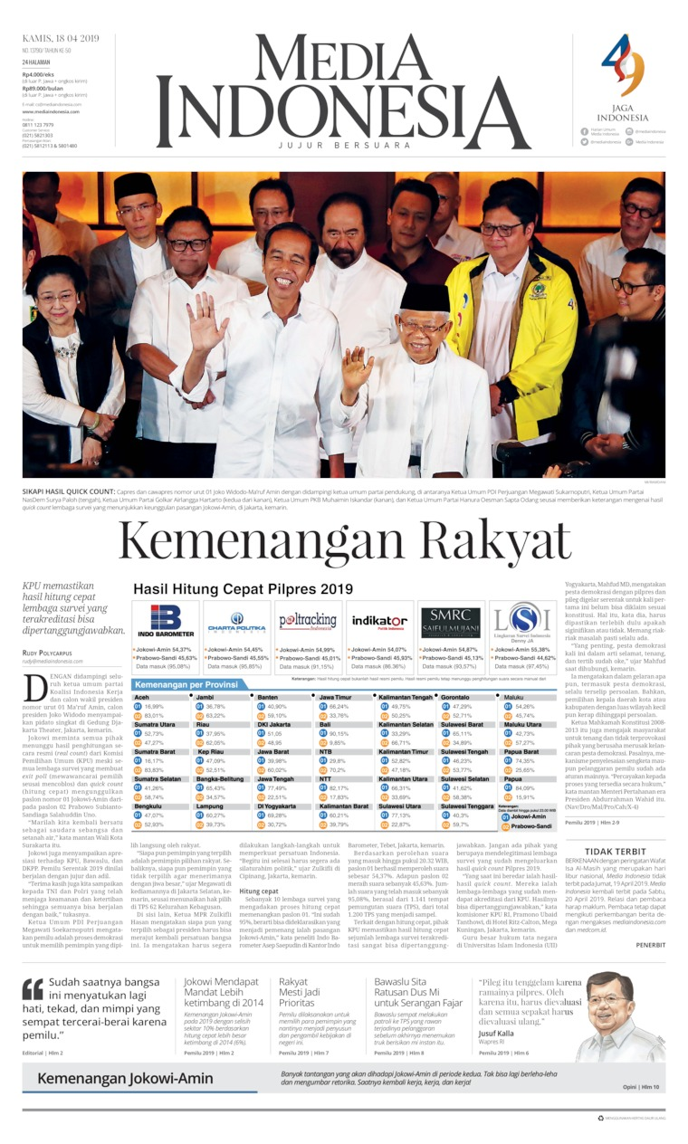 Koran Digital Media Indonesia 18 April 2019