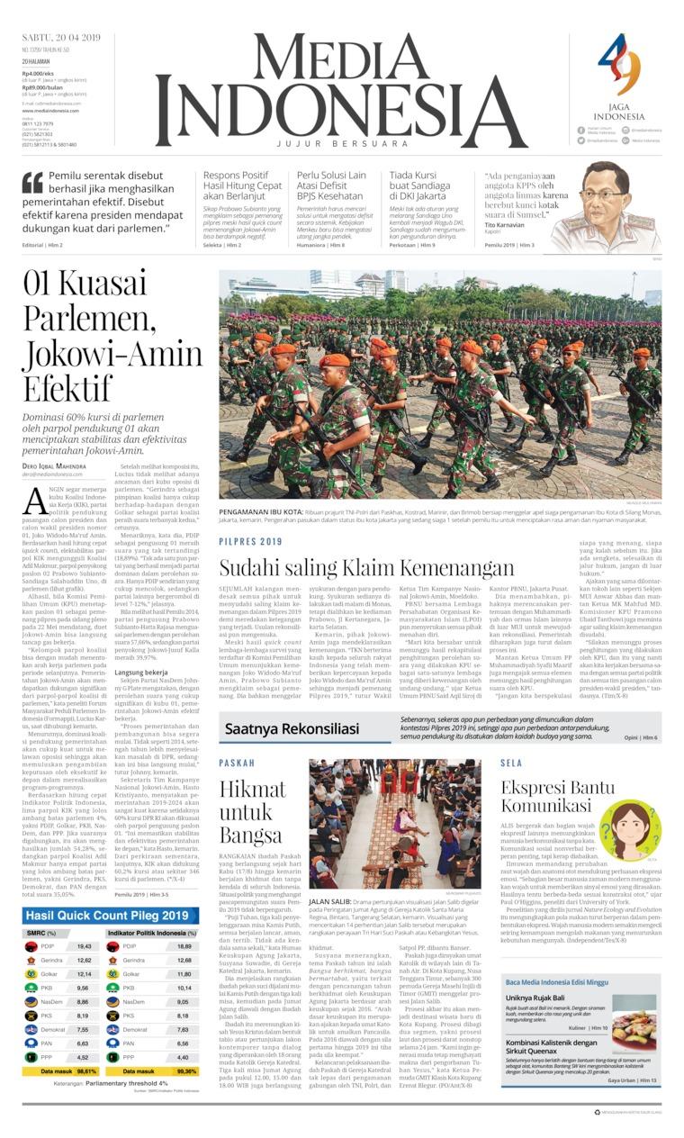 Media Indonesia Digital Newspaper 20 April 2019