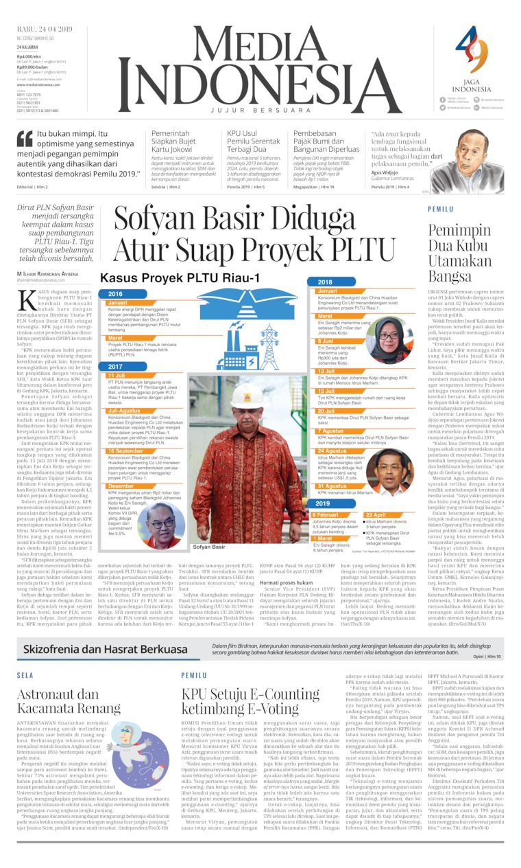 Media Indonesia Digital Newspaper 24 April 2019