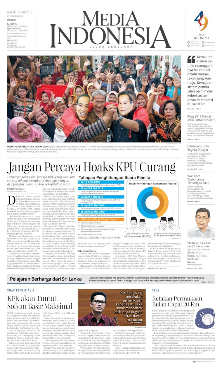 Koran Digital Media Indonesia 25 April 2019