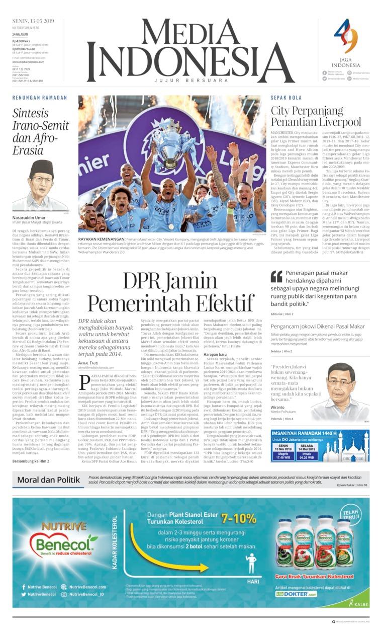 Koran Digital Media Indonesia 13 Mei 2019