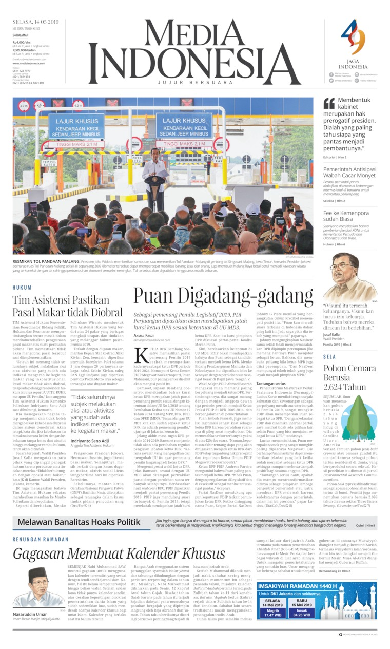 Koran Digital Media Indonesia 14 Mei 2019