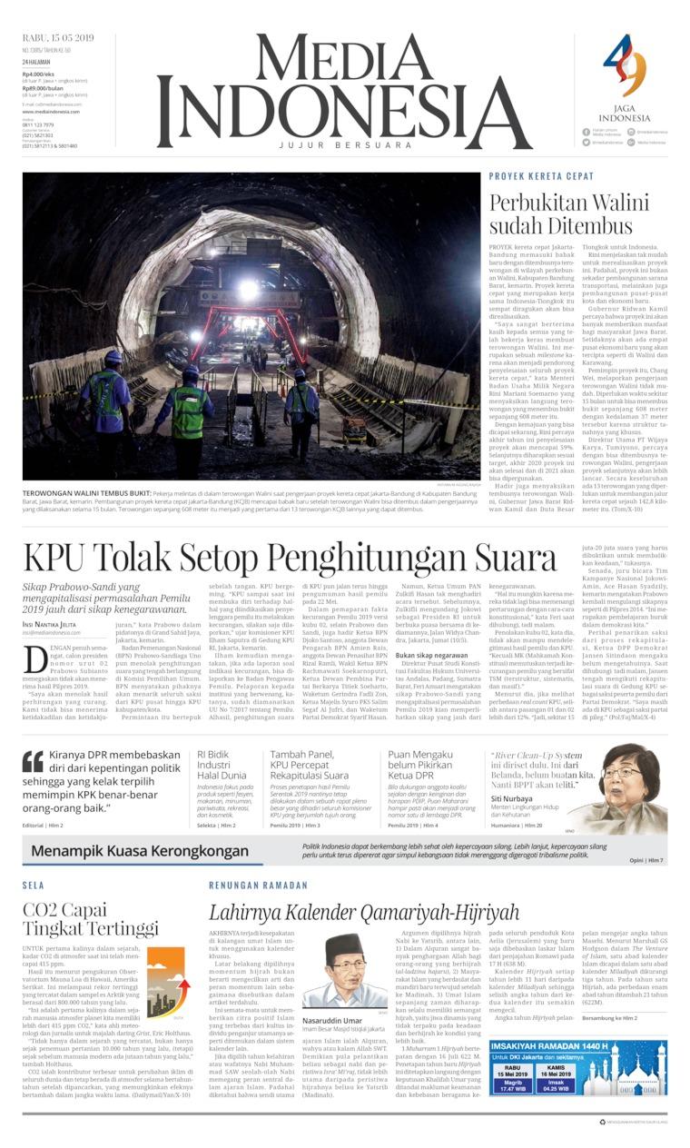 Koran Digital Media Indonesia 15 Mei 2019