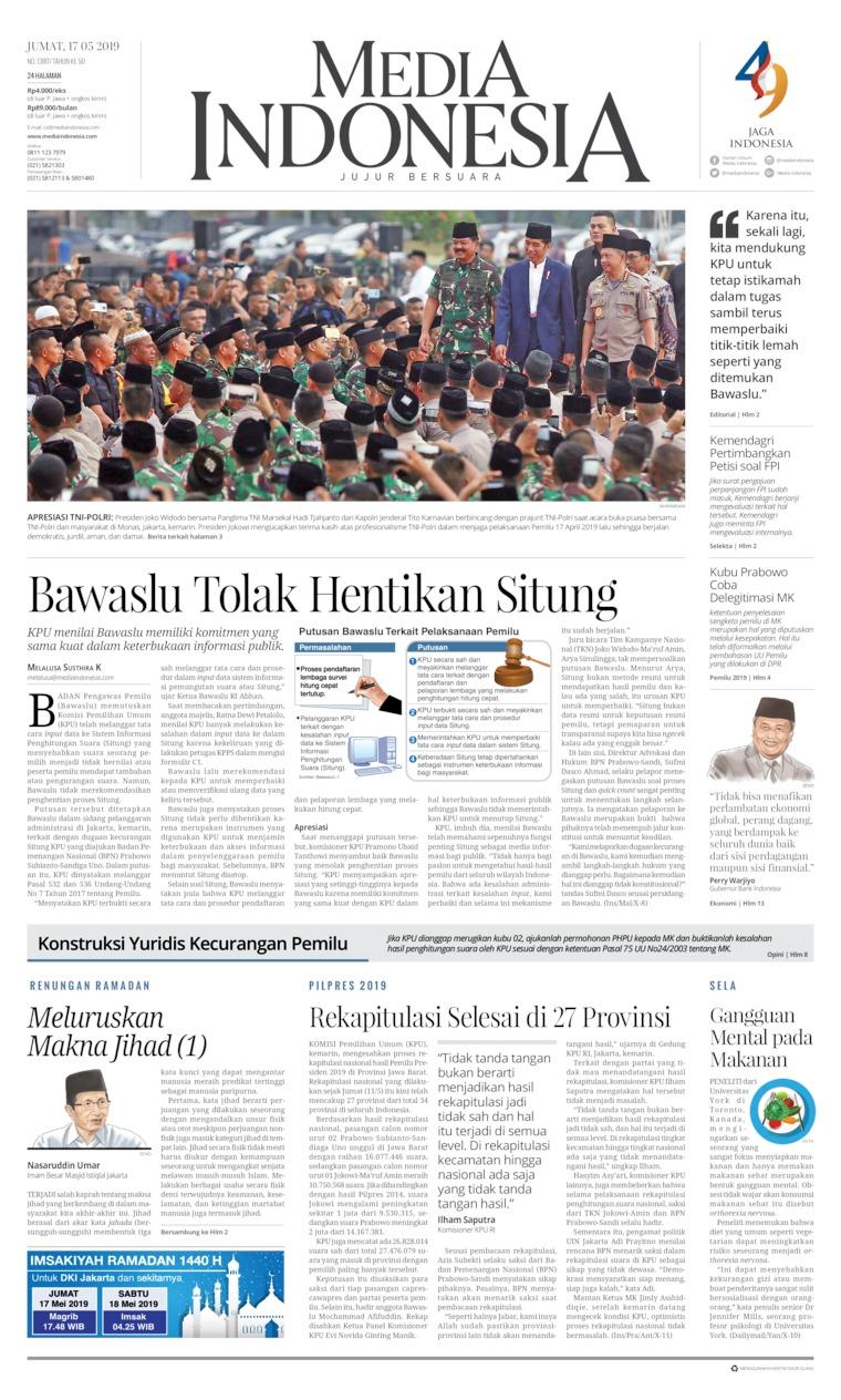 Koran Digital Media Indonesia 17 Mei 2019