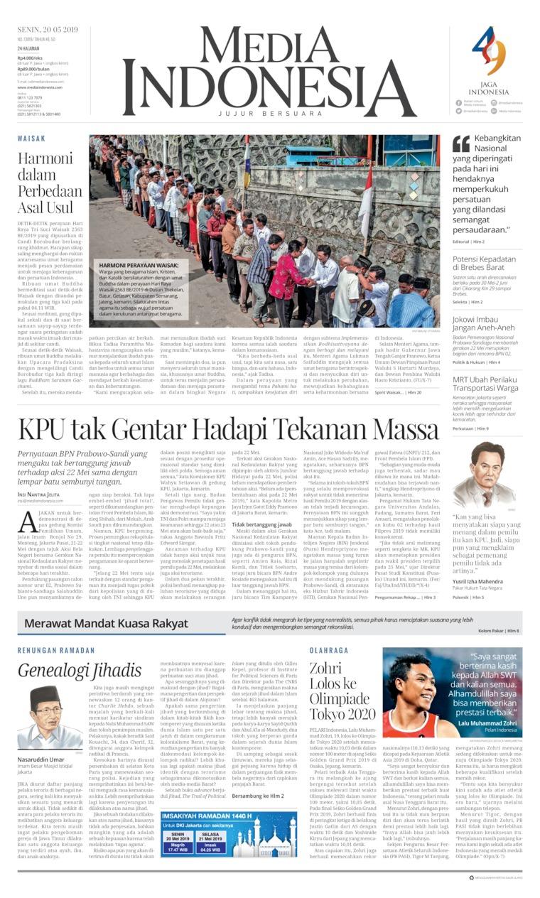Koran Digital Media Indonesia 20 Mei 2019