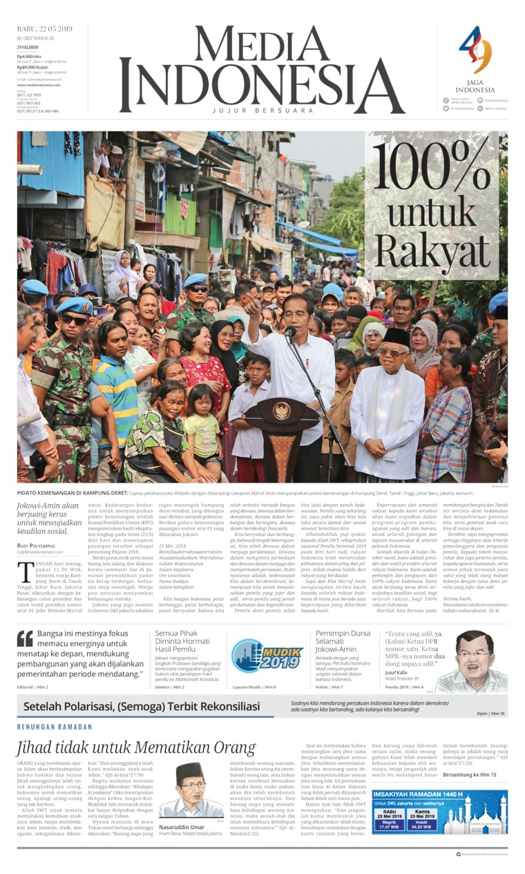 Media Indonesia Digital Newspaper 22 May 2019