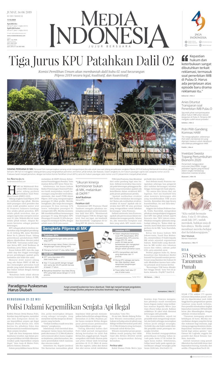 Koran Digital Media Indonesia 14 Juni 2019