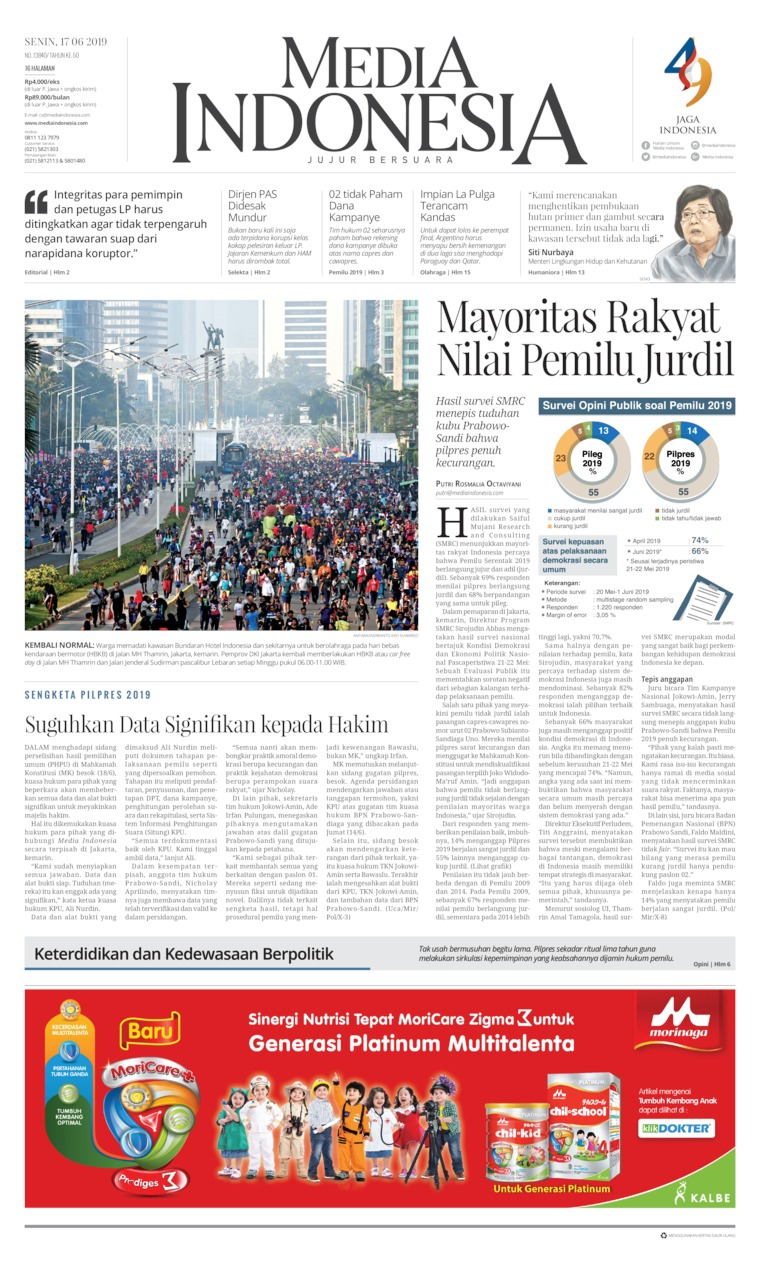 Media Indonesia Digital Newspaper 17 June 2019