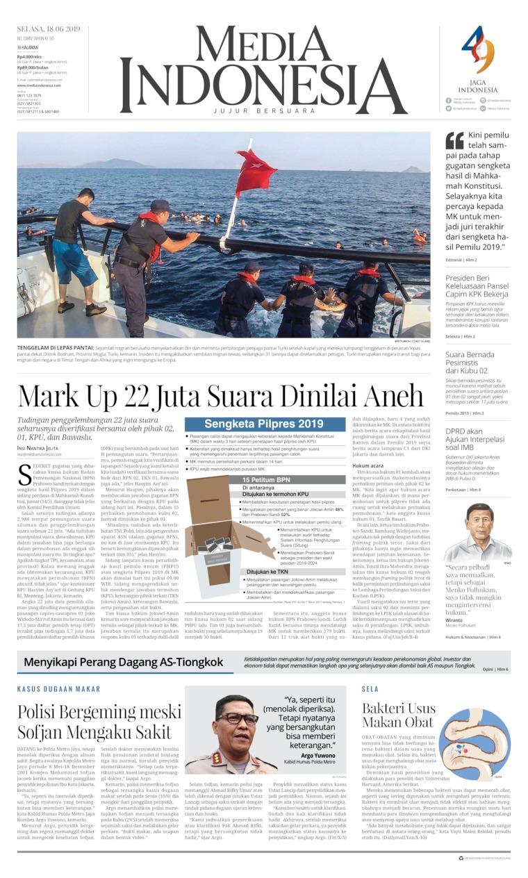 Media Indonesia Digital Newspaper 18 June 2019