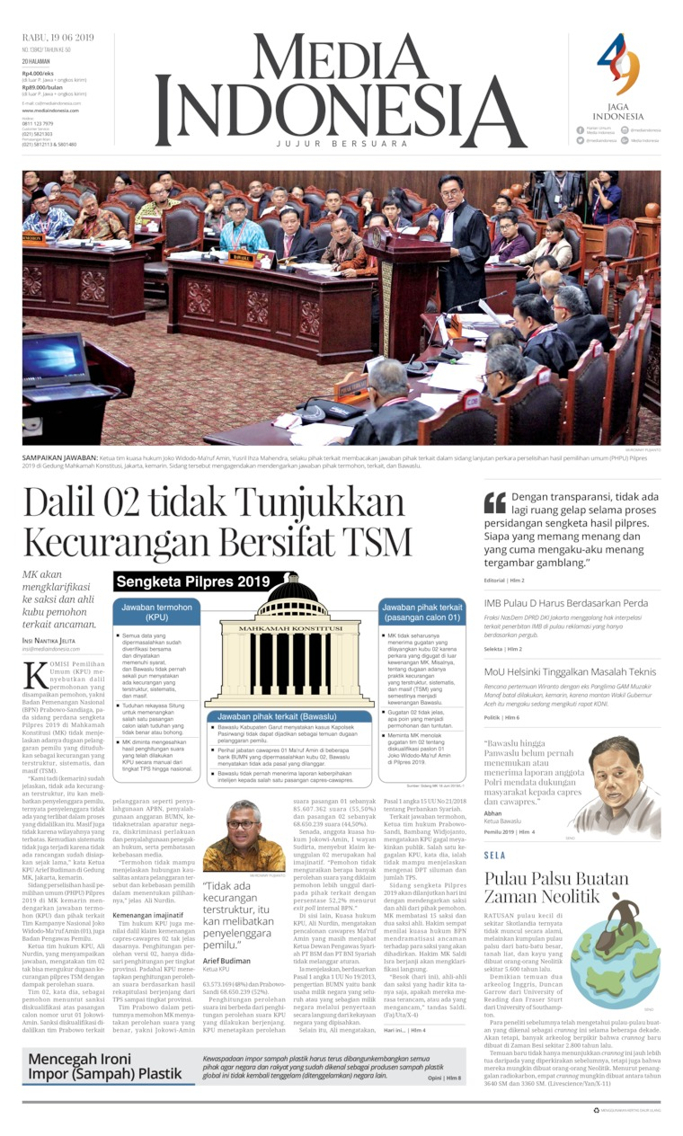 Media Indonesia Digital Newspaper 19 June 2019